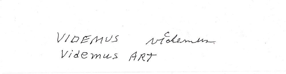 Videmus Art. Syd Wachs.