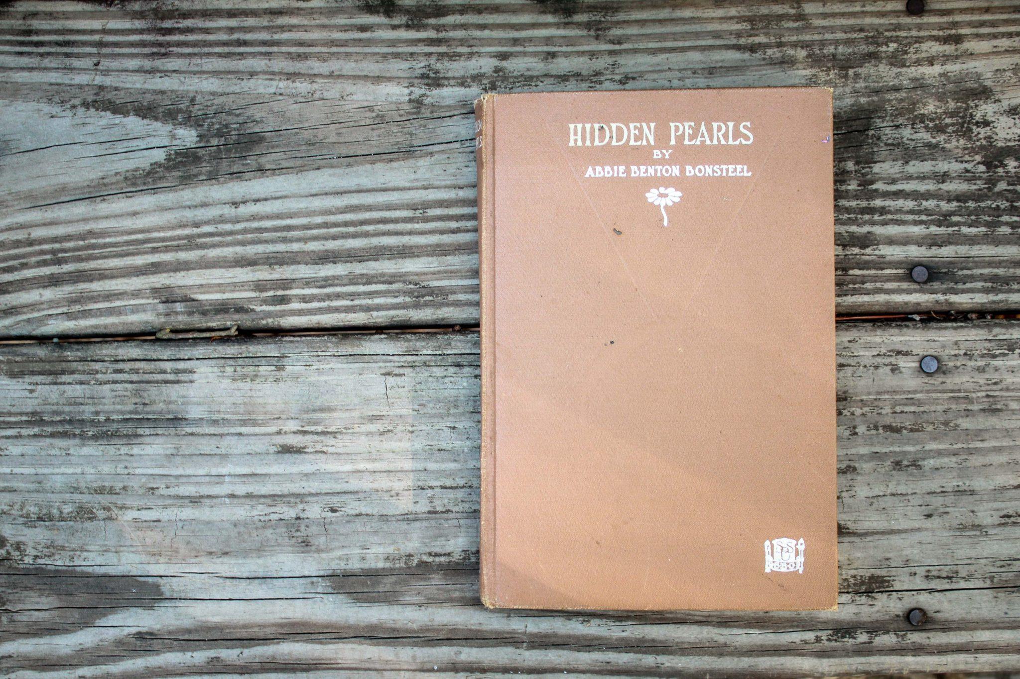 Hidden Pearls by Abbie Benton Bonsteel. Art Journaling. Antique Books. Repurposing. Upcycling.   Videmus Art. Syd Wachs.
